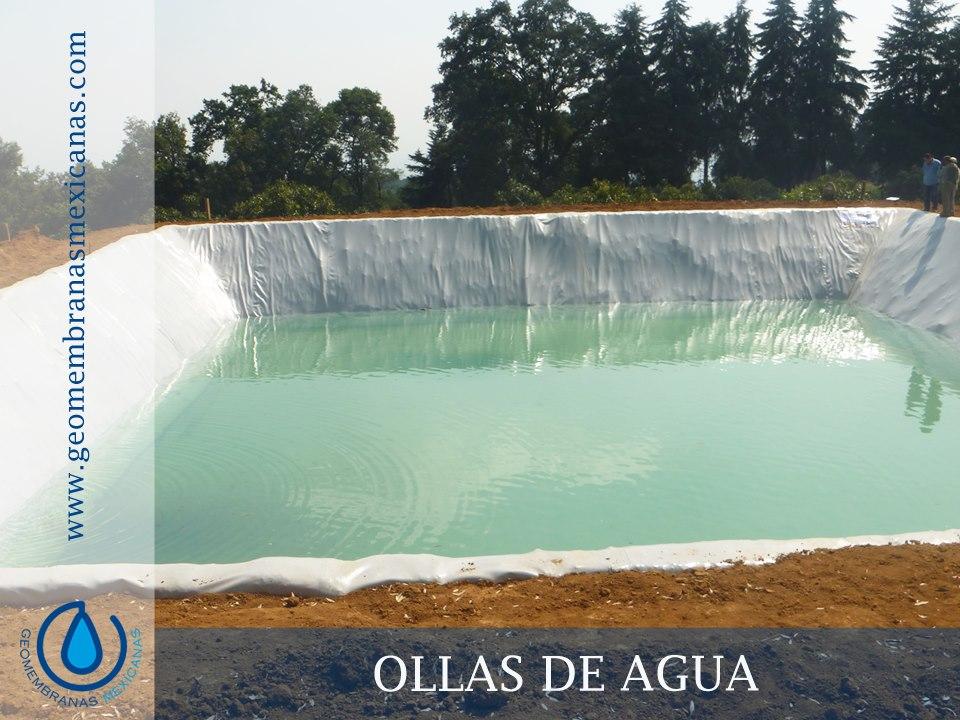 Ollas de agua geomembranas mexicanas for Geomembrana para estanques de agua